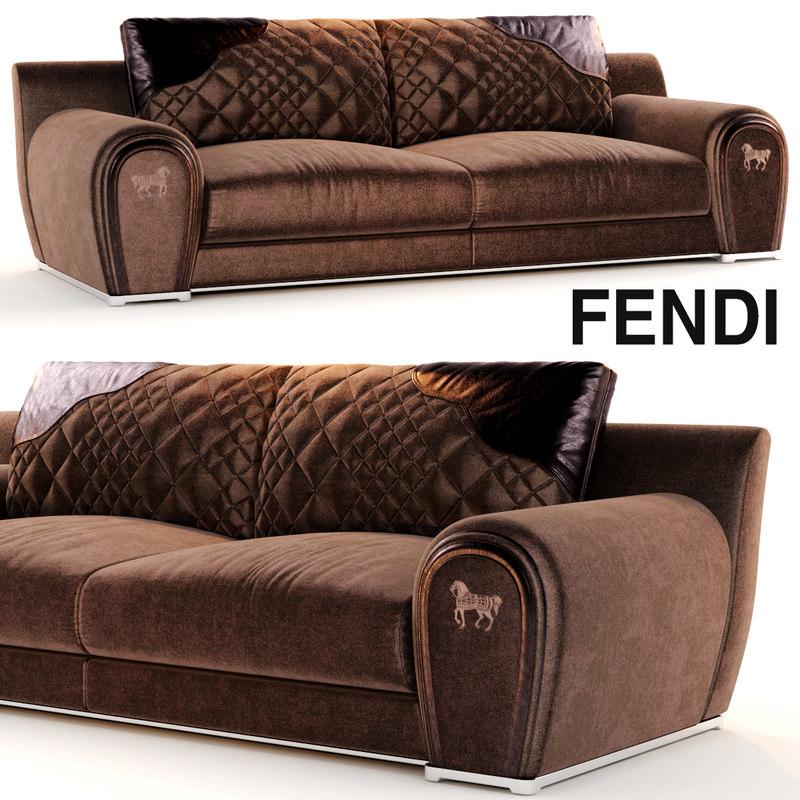 Sofa varenne fendi 3d model for Divan furniture models