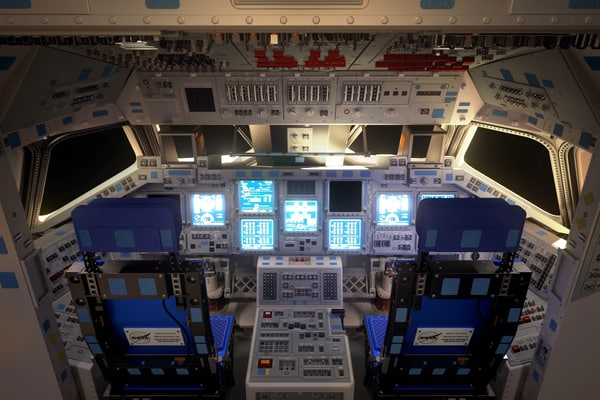 Space Shuttle Cockpit (High Poly) 3D Models