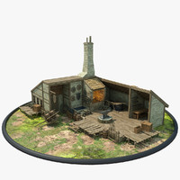 blacksmith shop 3D models