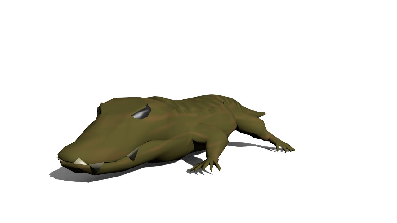 Alligator  Lowpoly