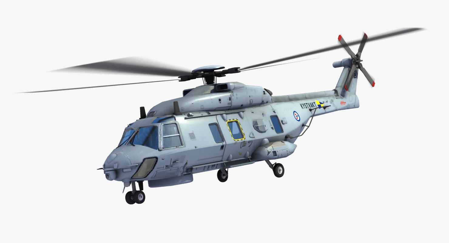 nh90 helicopter 3d max