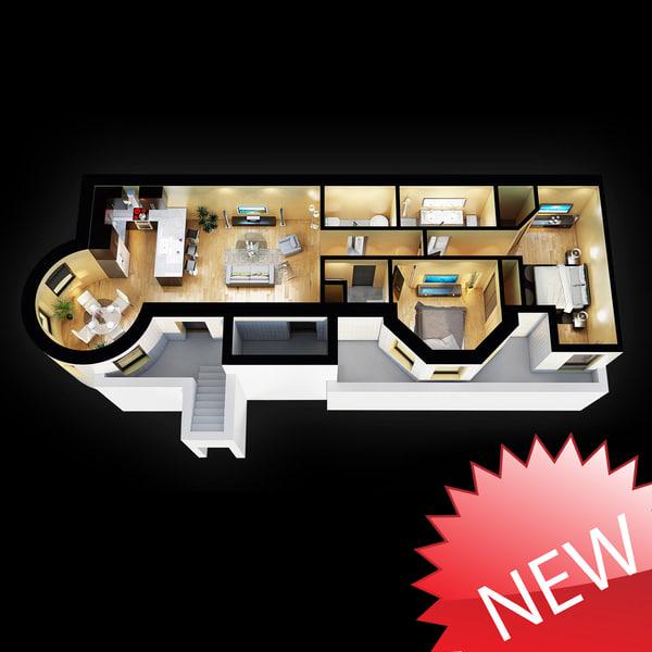3D Floor Plan 3D Models