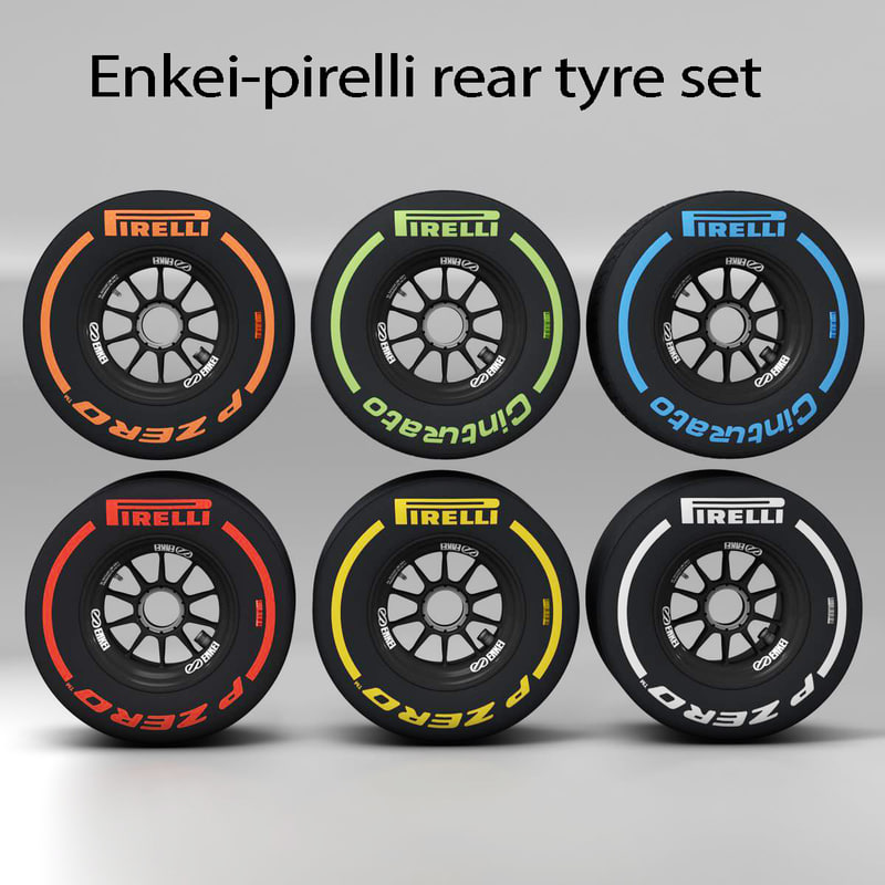 enkei rear tyre set