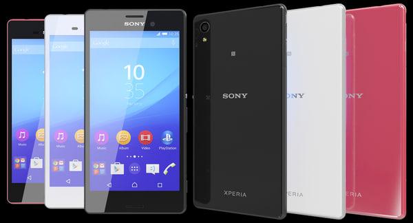 Sony Xperia M4 Aqua All Colors 3D Models
