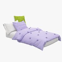 Twin Bed 3D models