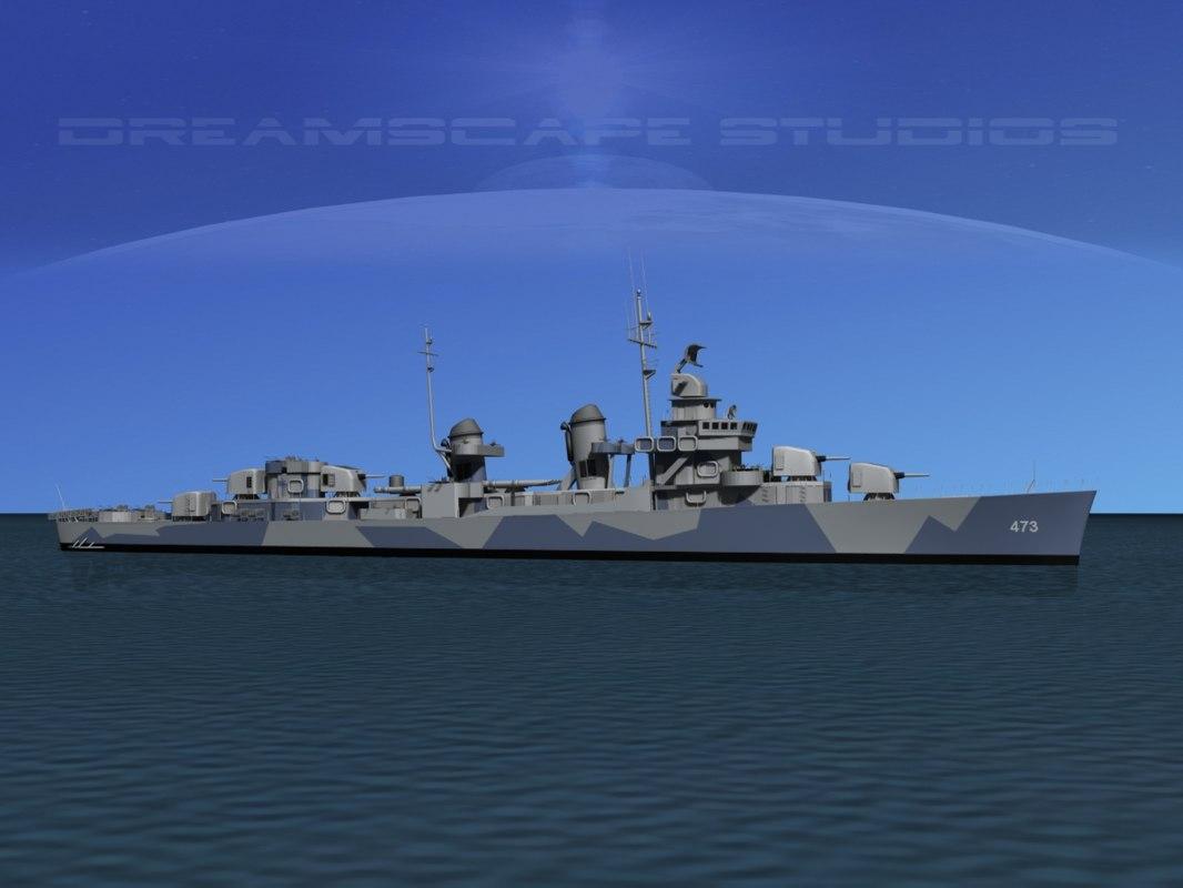 Fletcher Class Destroyer DD473 USS Bennett0001.jpg
