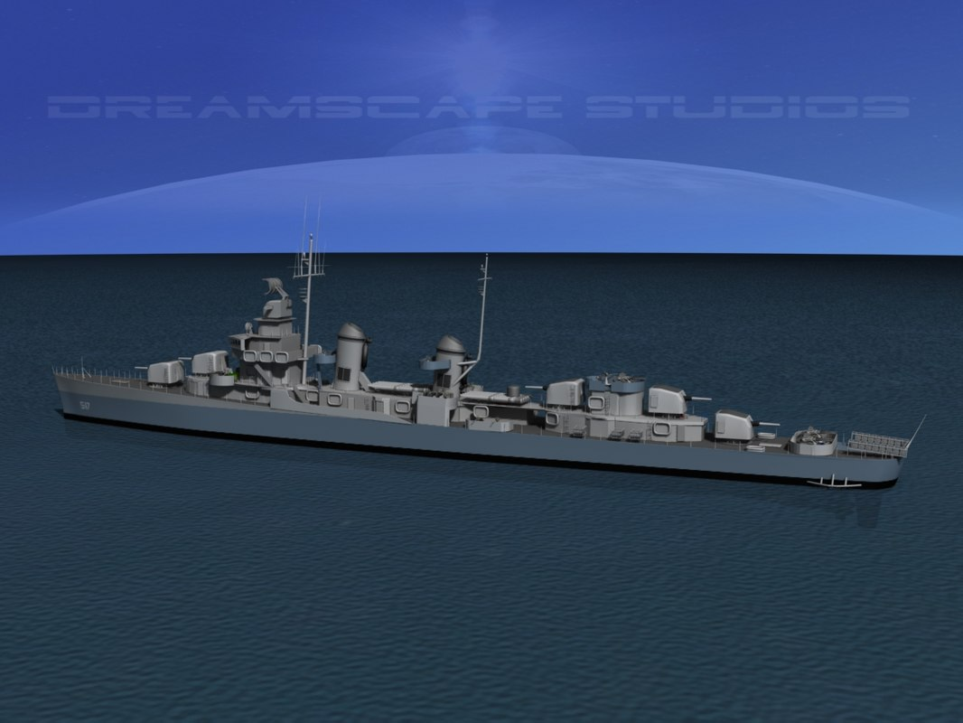 Fletcher Class Destroyer DD517 USS Walker0050.jpg