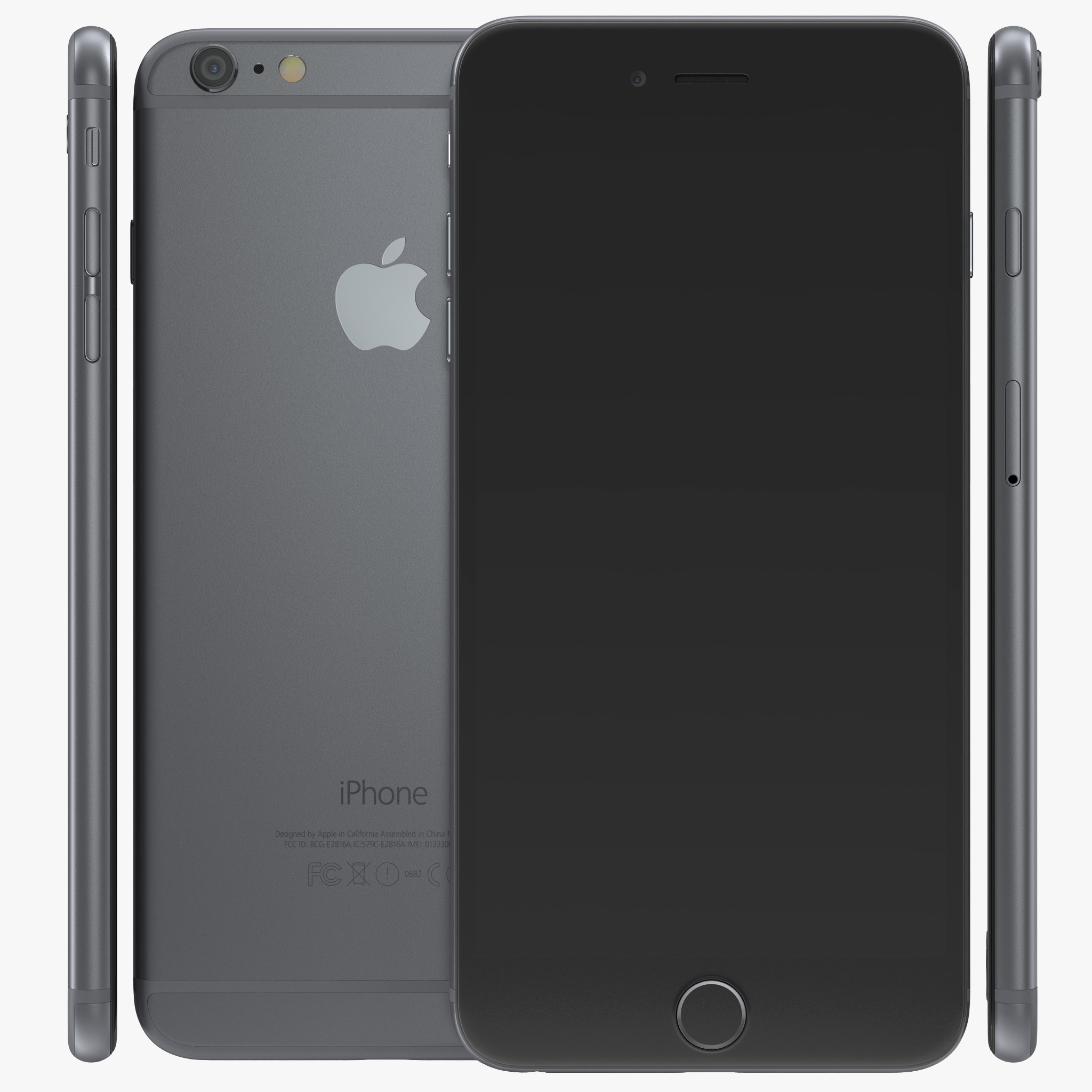 How to how to make 3d phone cases : 2048 x 2048 jpeg 361 KB, IPhone 6 Plus Space Gray 3d model 00.jpg