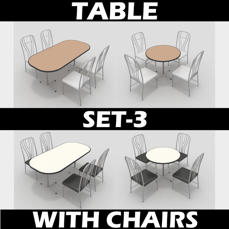 Table With Chairs Set-3