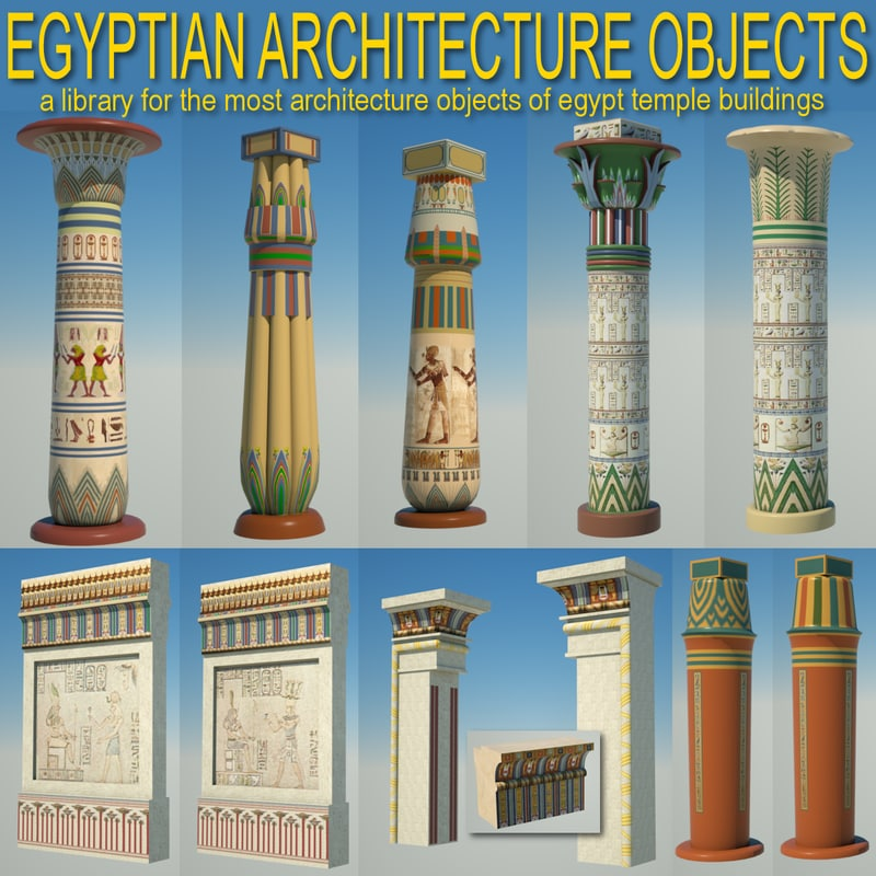 Egyptian Architecture Objects