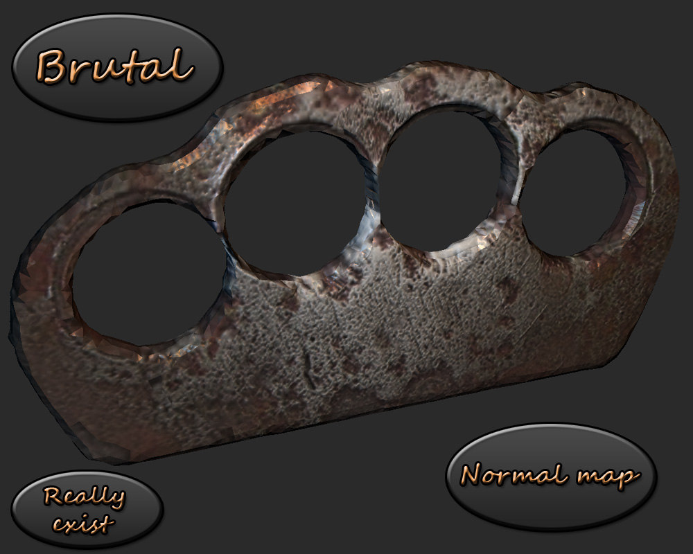 realistic brass knuckles