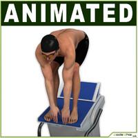 swimmer 3D models