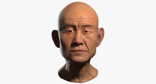 Old Man Head 3D Models