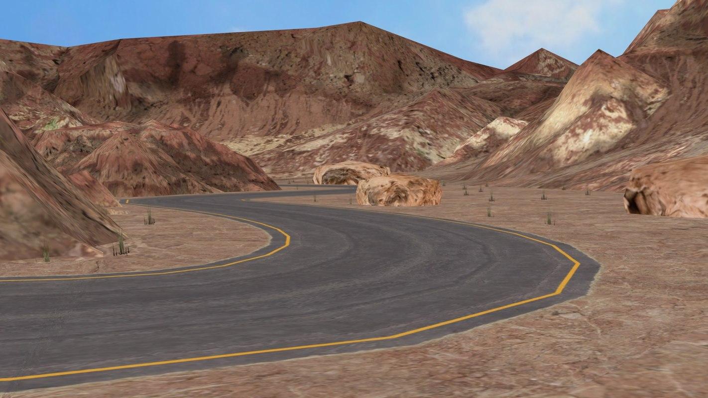 Desert - road in mountains