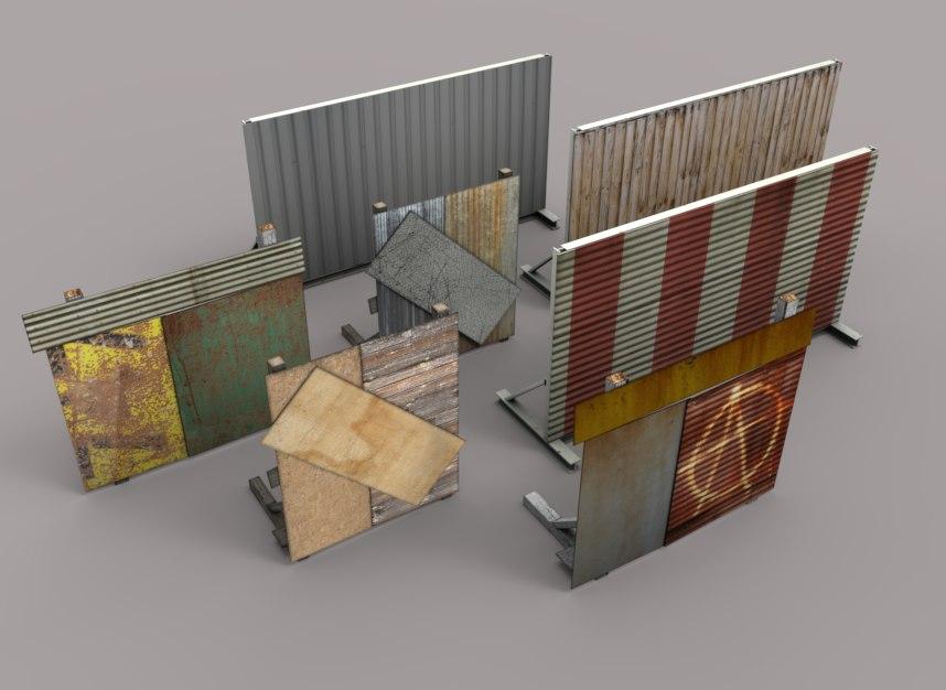 Barrier and  Barricade Set