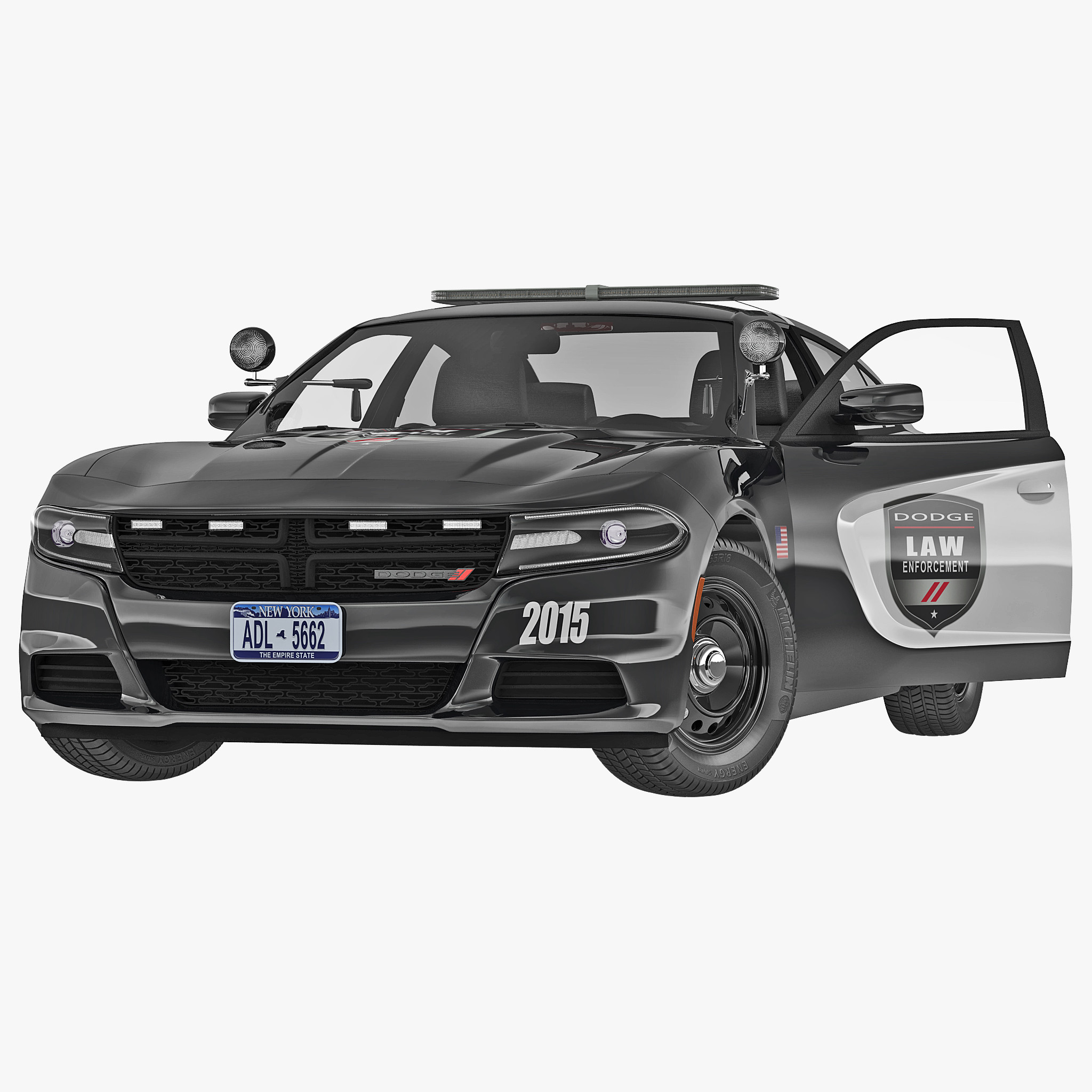 Dodge Charger 2015 Police Car Rigged