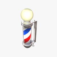 barber pole 3D models