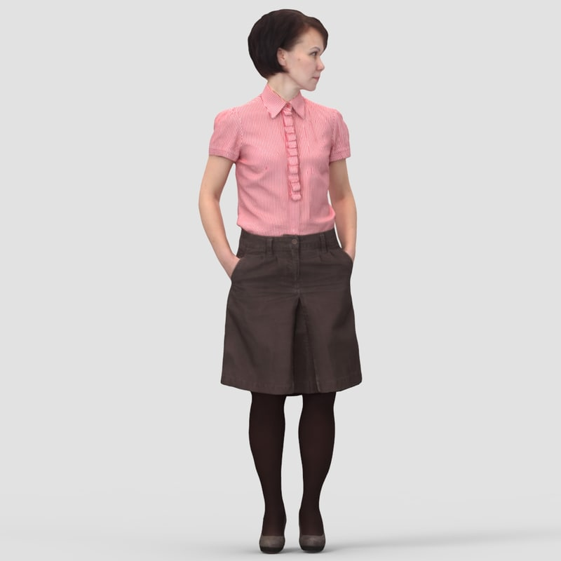 Linda Business Standing - 3D Human Model