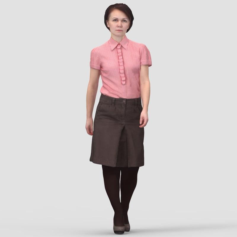 Linda Business Walking - 3D Human Model