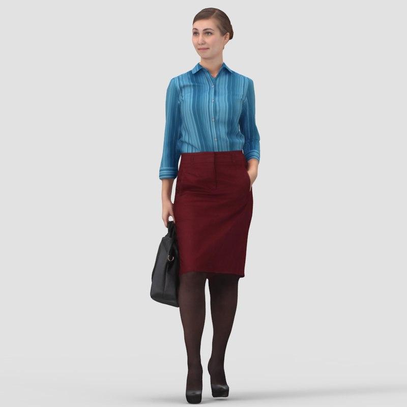 Jennifer Business Standing - 3D Human Model