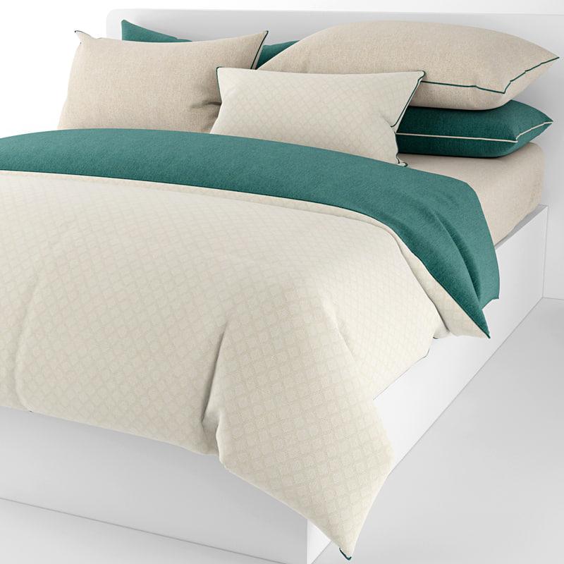 3d bedding pillows sheet model