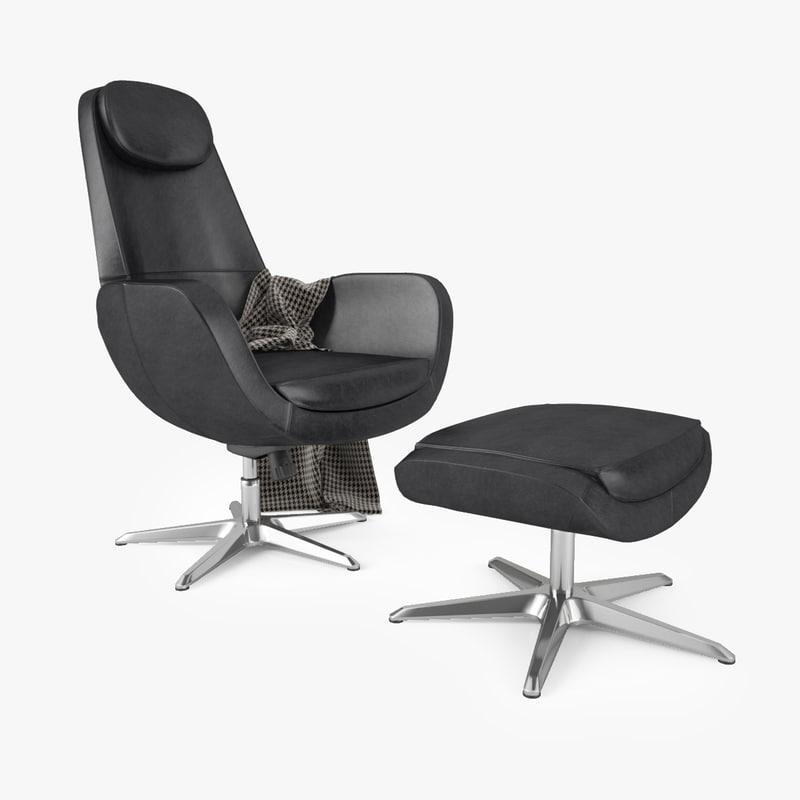 Ikea Arvika Swivel Chair 3d Max
