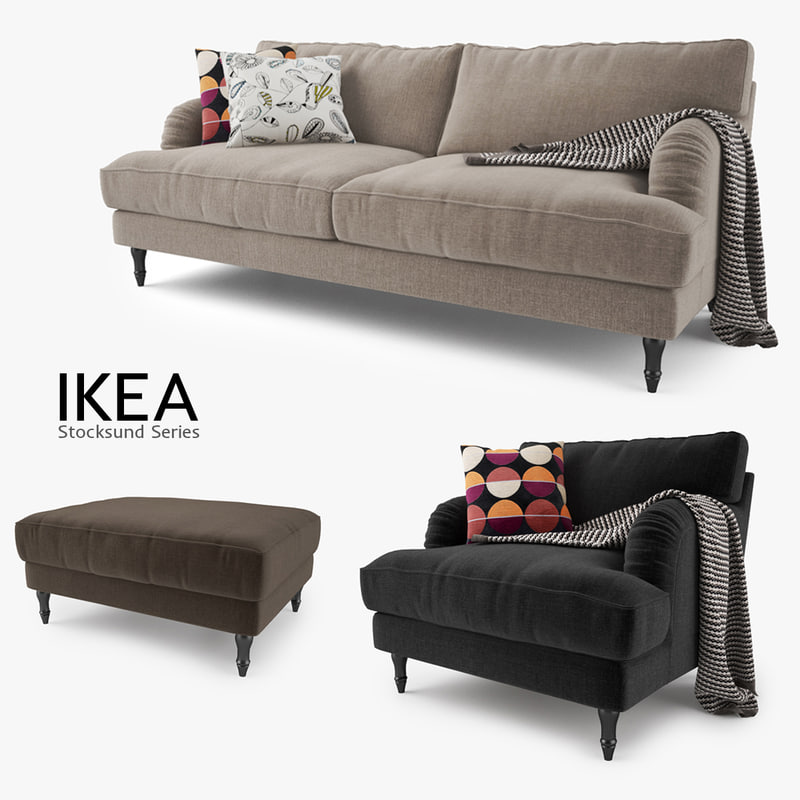 Sofas And Lounge Chairs In Tv Shows: Ikea Stocksund Series Sofa Chair Max