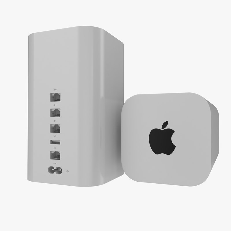 Apple AirPort Extreme 3d model 00.jpg