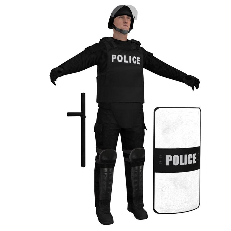 RIOT Police 1 LOD1