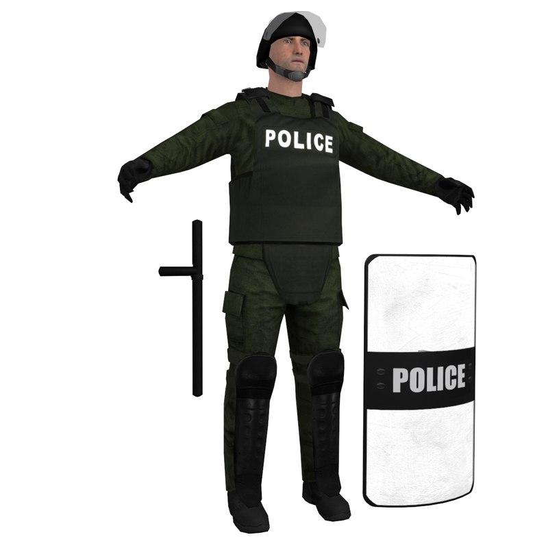RIOT Police 3 LOD1