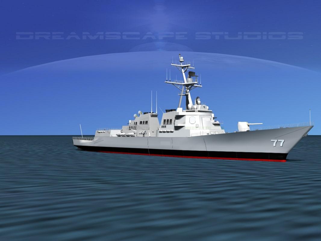 Burke Class Destroyer DDG 77 USS OKane