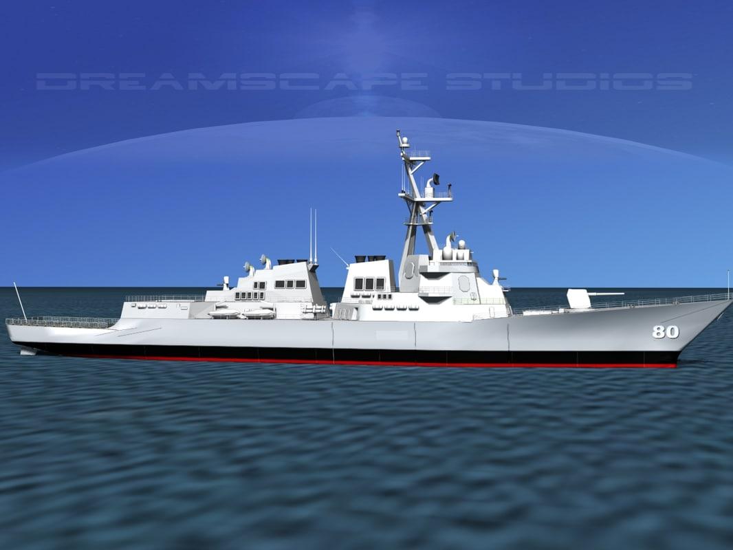 Burke Class Destroyer DDG 80 USS Roosevelt