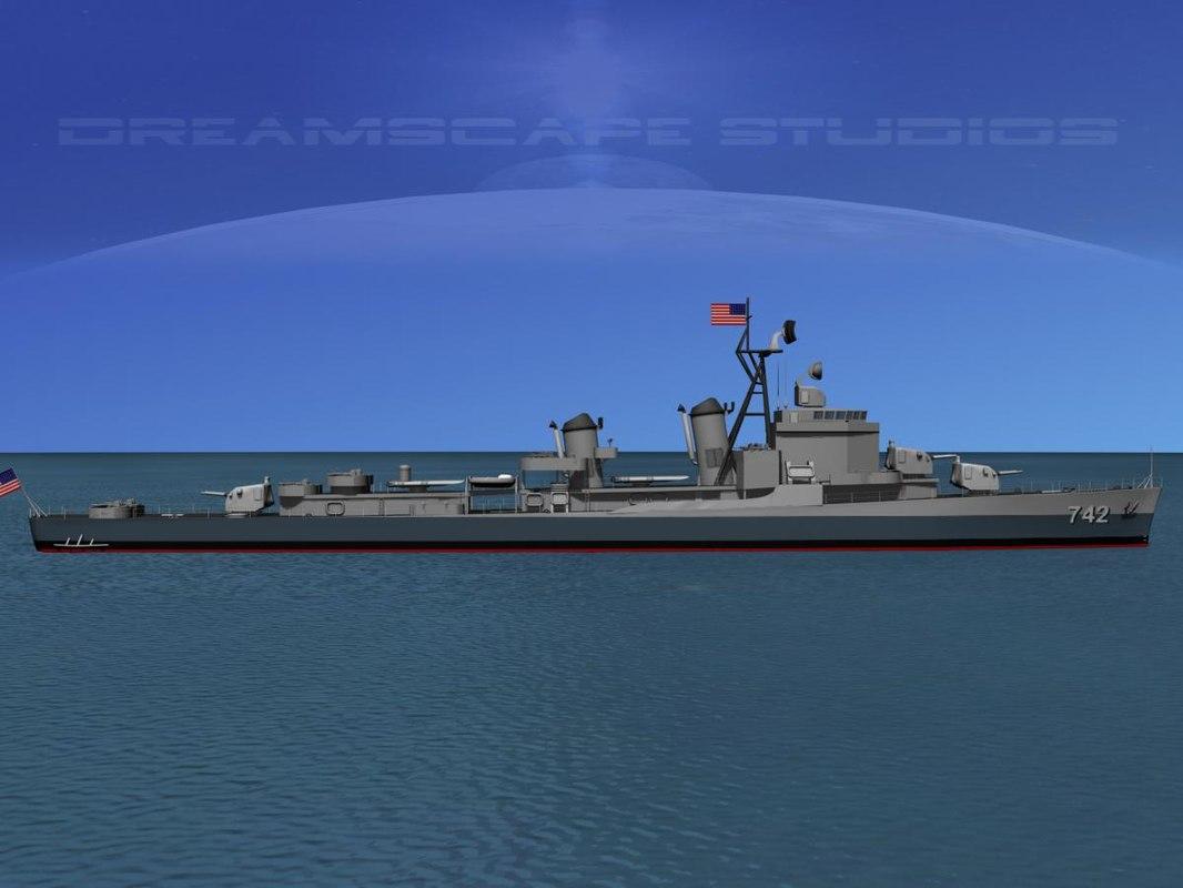 Gearing Class Destroyer DDR-742 USS Frank Knox