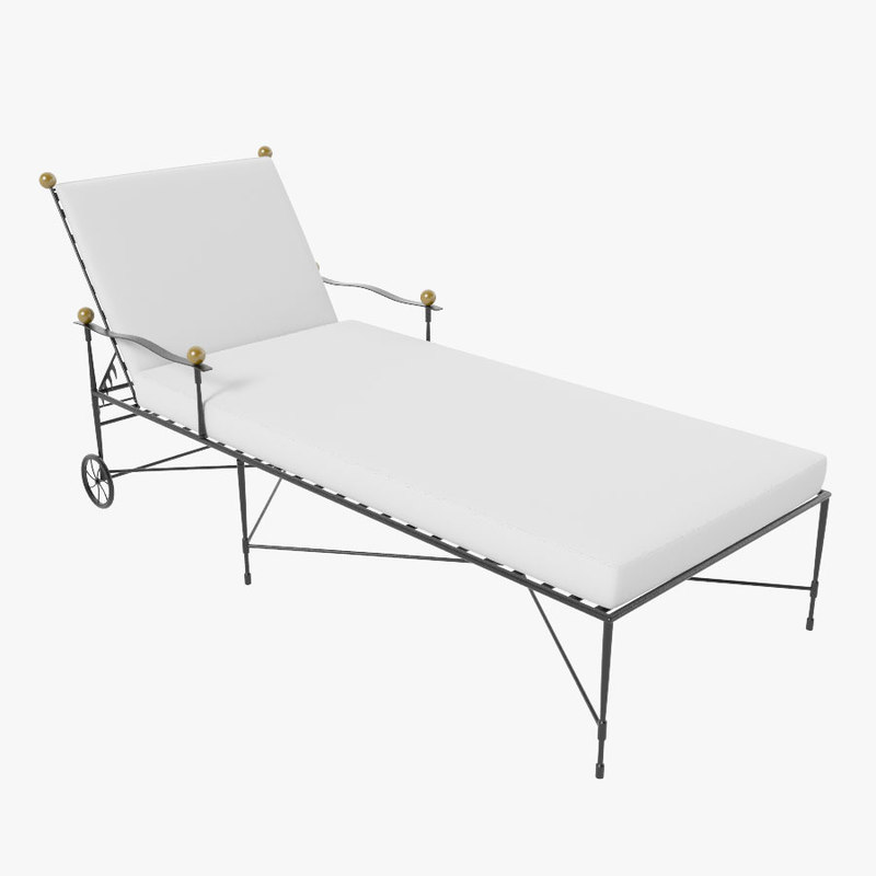3d max amalfi chaise lounge for Chaise quadriceps