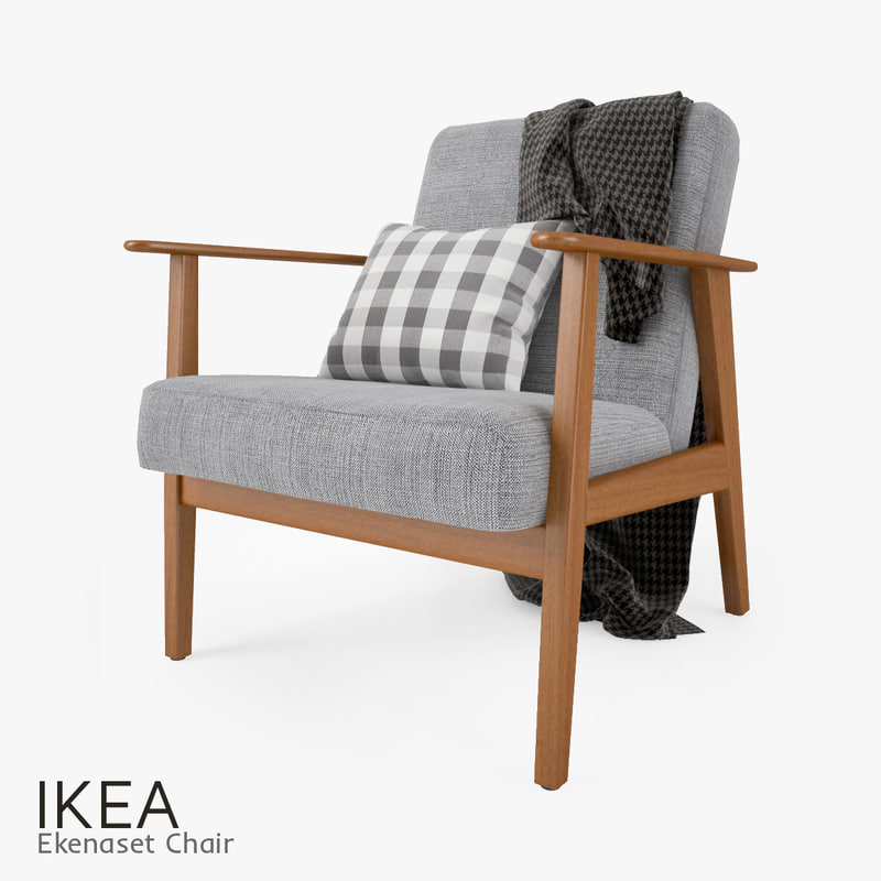 Modern living room interior 3ds max scene with all furniture 3d models - Max Ikea Ekenaset Chair Seat