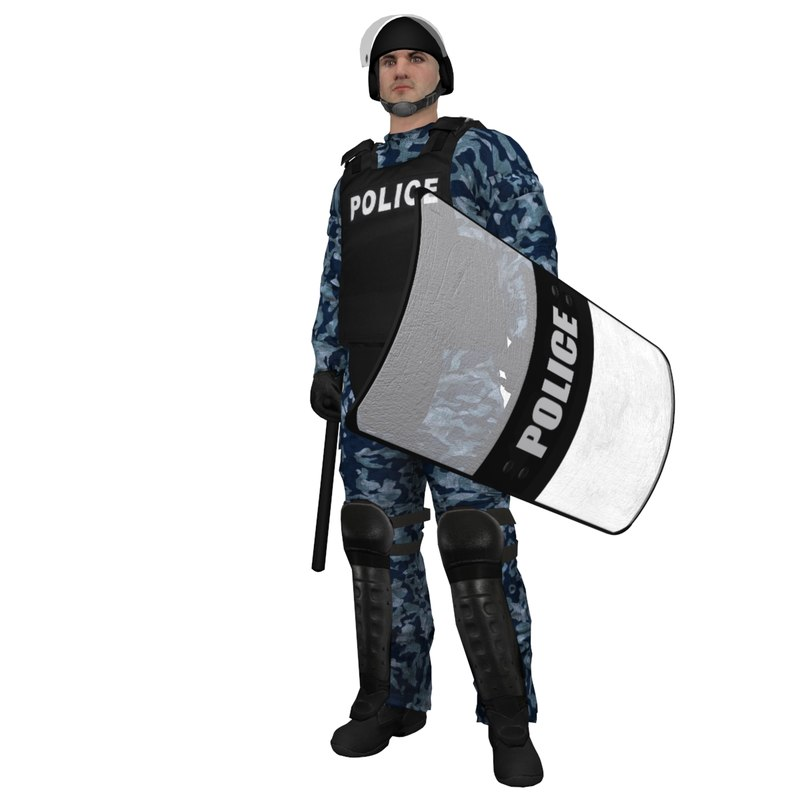 RIOT Police 2 LOD3 Rigged