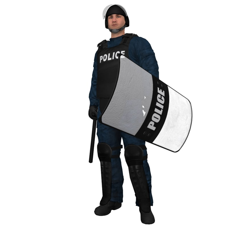 RIOT Police 4 LOD3 Rigged