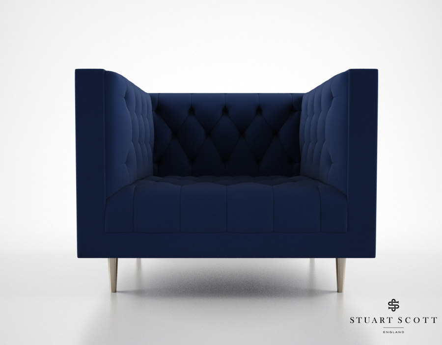 3d model stuart scott flux armchair