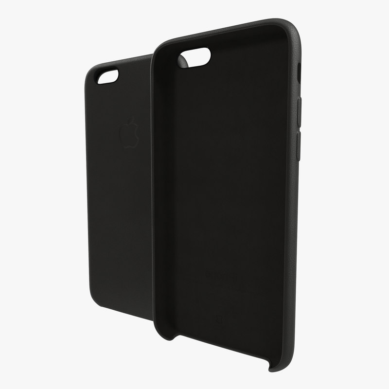 iPhone 6 Leather Case Grey 3d model 00.jpg