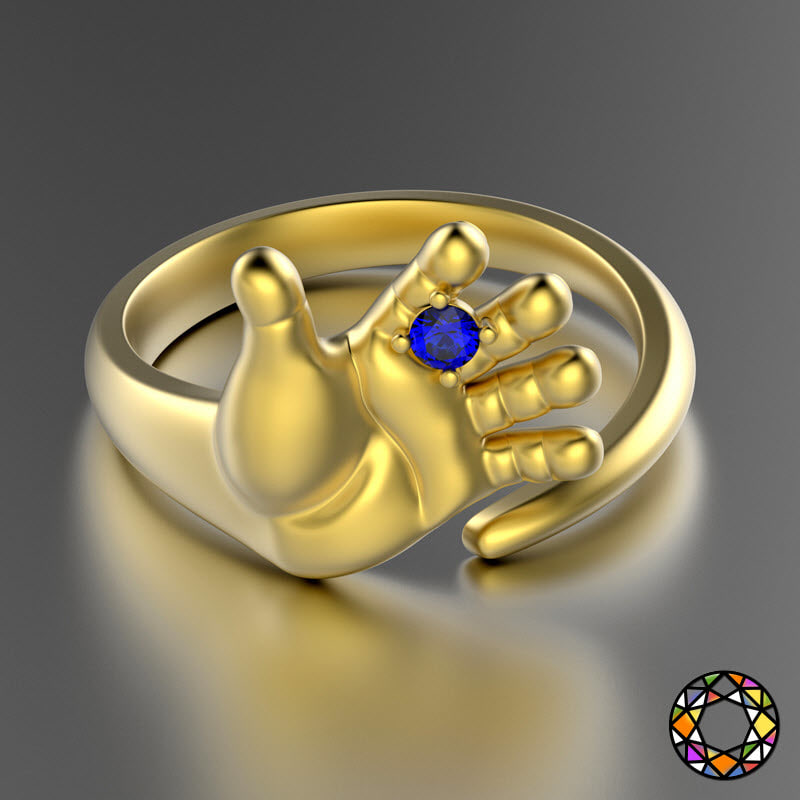 hand shaped ring 0031 v1