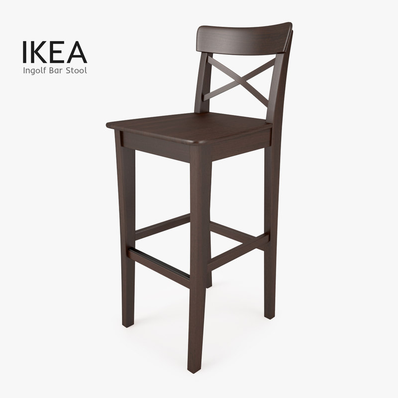 3d model ikea ingolf bar stool for Bar stools ikea