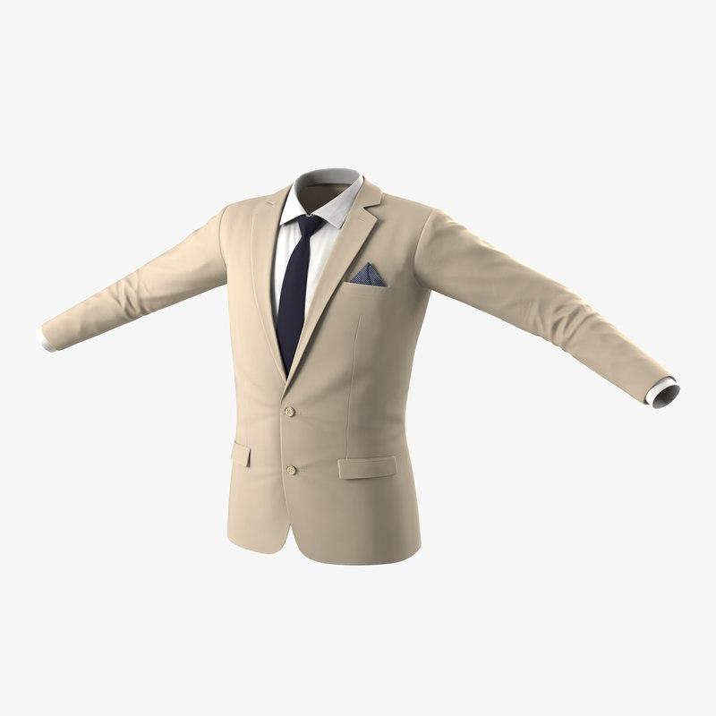 Mens Suit Jacket 3d model 00.jpg