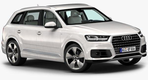2016 Audi Q7 3D Models