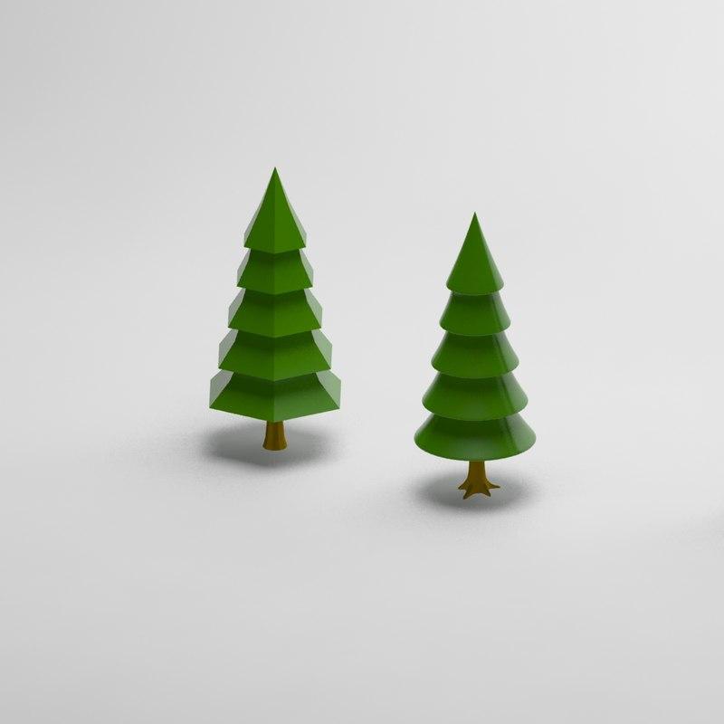 Cartoon conifer tree