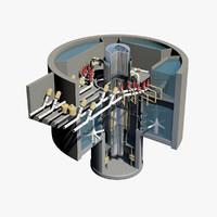 nuclear reactor 3D models