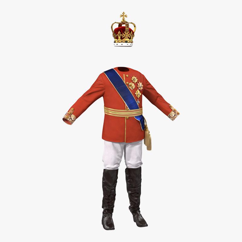 Royal King Costume 3d model 00.jpg