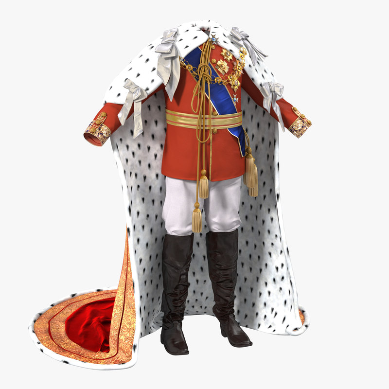 Royal King Costume 3d model 00.jpg