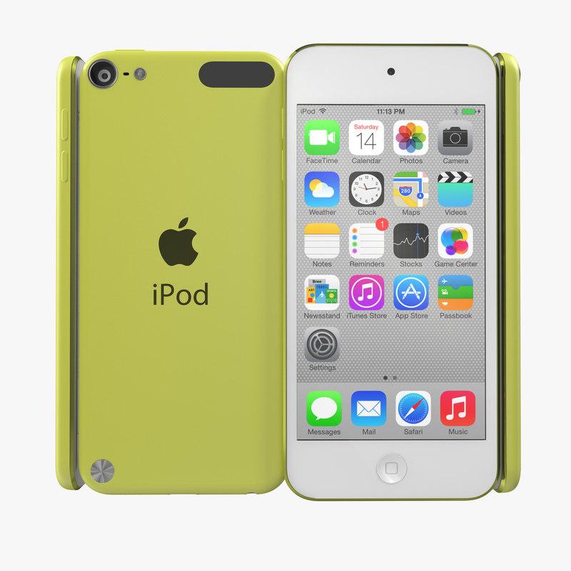 iPod Touch Yellow 3d model 00.jpg