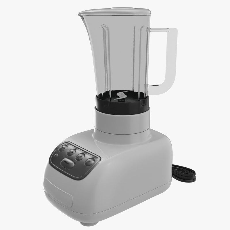 Blender White 3d Model