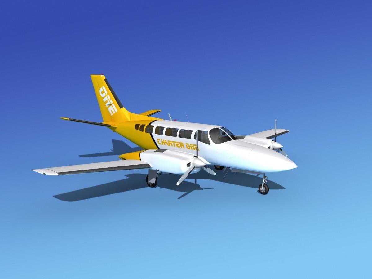 3d propellers cessna 404 titan model